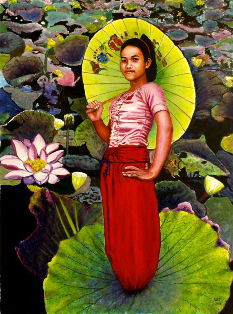 Abbas Mehran Sunrise Cambodia Painting