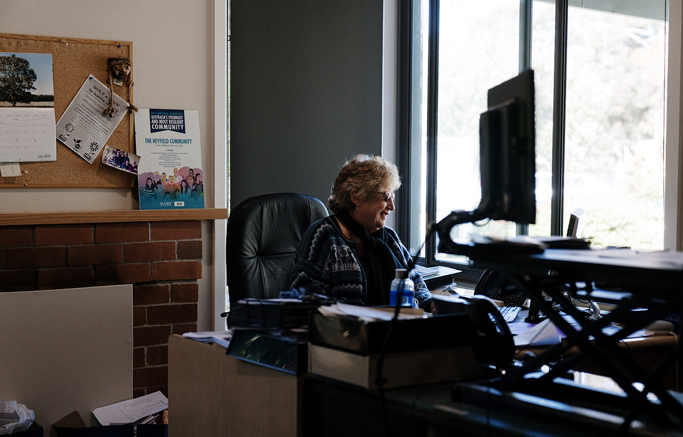 Local powerhouse: Julie Bryer of the Heyfield Community Resource Centre.